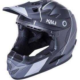 Kali Zoka Stripe Helm Jugend matt black/grey